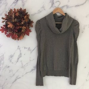 Topshop Puff Sleeve Cowl Neck Sweater